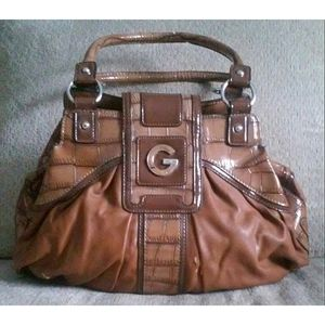 Cognac G By Guess Tote